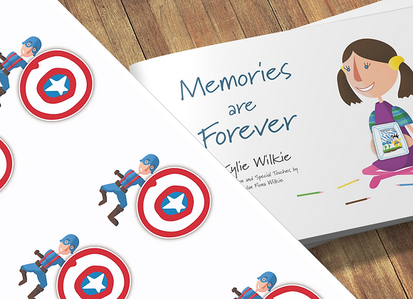 Memories are Forever + Captain Awesome gift wrapping