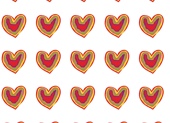 Wrapping Paper - Rainbow Heart