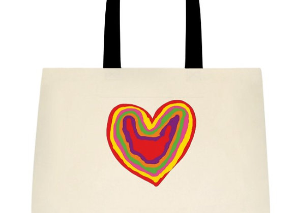 Bag - Large Tote - Rainbow Heart