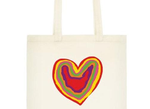 Book Bag - Rainbow Heart