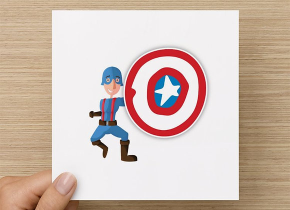 Greeting Card - Captain Awesome