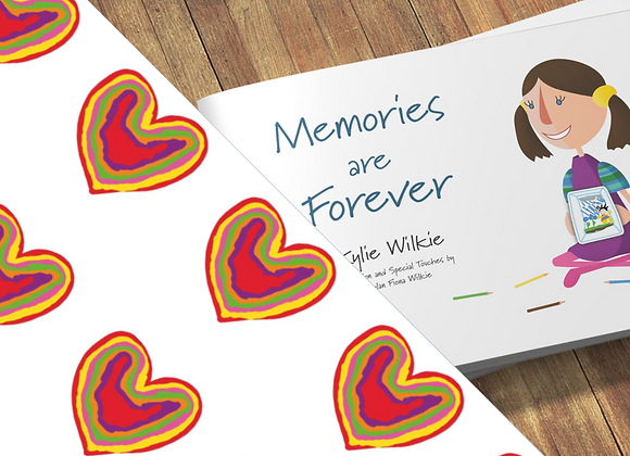 Memories are Forever + Rainbow Heart gift wrapping