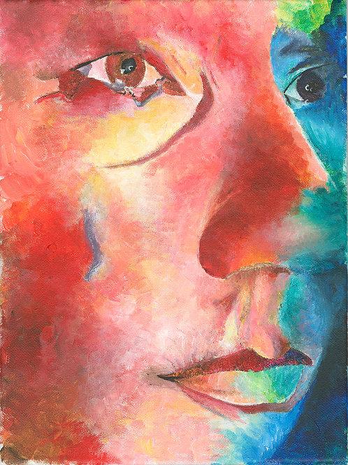 Eye-bathing: A Self Portrait