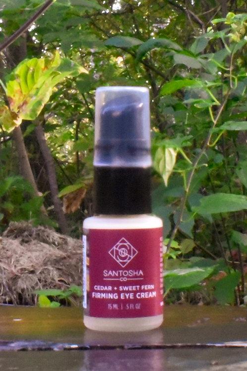 Santosha - Cedar + Sweet Fern Firming Eye Cream