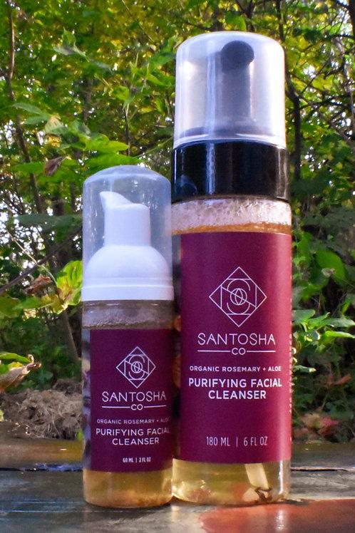 Santosha - Rosemary + Aloe Purifying Facial Cleanser