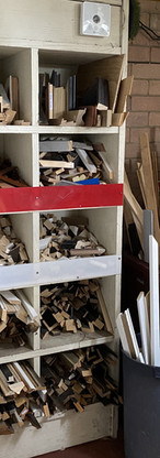 Wood offcuts from our suppliers.