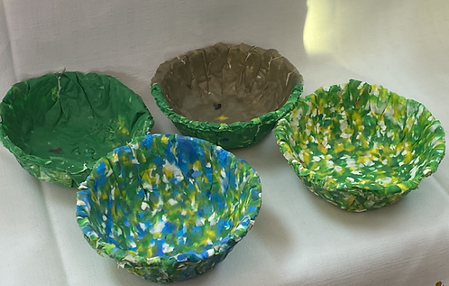 Jellyfish Bowls (Set of 4)- 10-12cm -Speckled