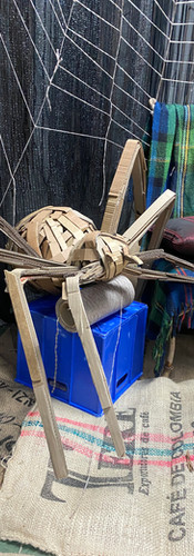 Forest Installation and cardboard spider