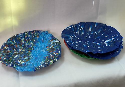 Jellyfish Plates (set of 4)10-12cm - Blue/Green