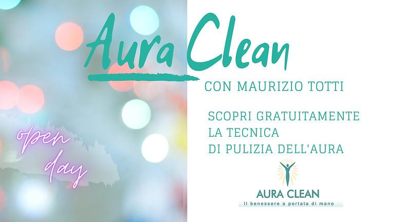 "OPEN DAY ""AURA CLEAN"" a cura di Maurizio Totti"