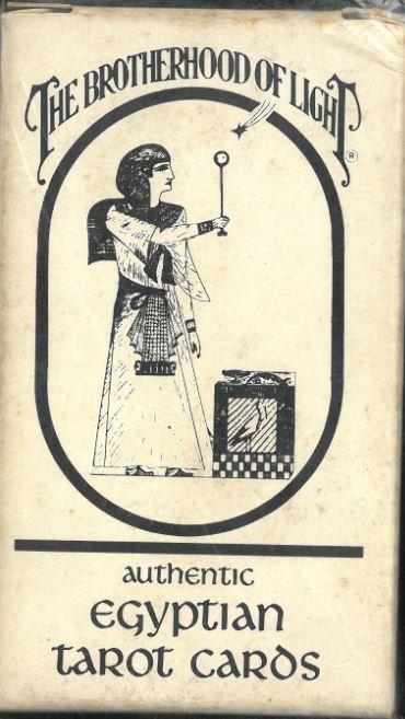 AUTHENTIC EGYPTIAN TAROT CARDS - THE BROTHERHOOD OF LIGHT 1964.  Rarissimo!
