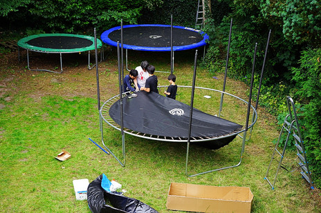 The third trampoline arrived