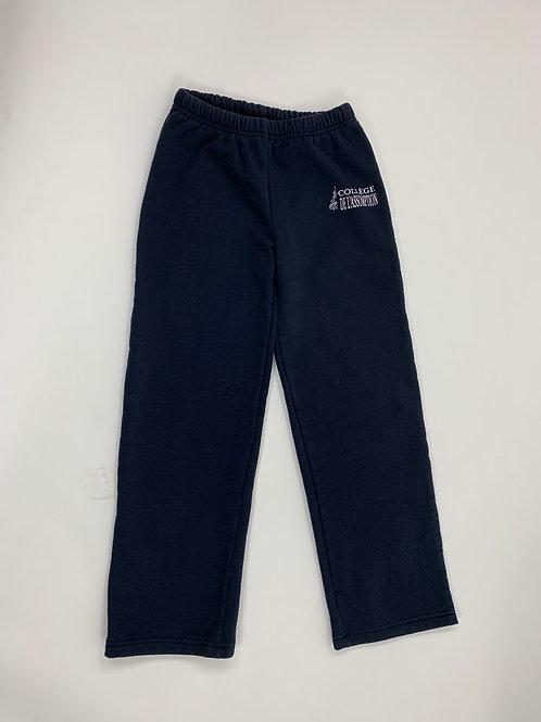 Pantalon coton ouaté/élastique marine - BCBG