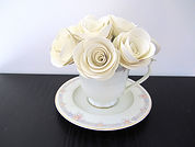 white rose teacup