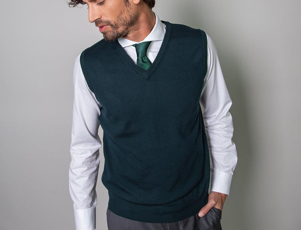 Slipover 100% lana merino verde bosco