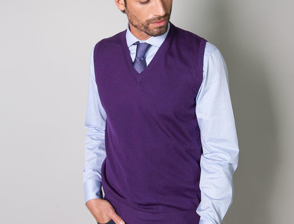 Slipover 100% lana merino viola