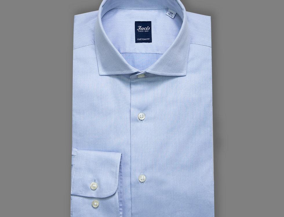 Camicia in piquet di puro cotone celeste