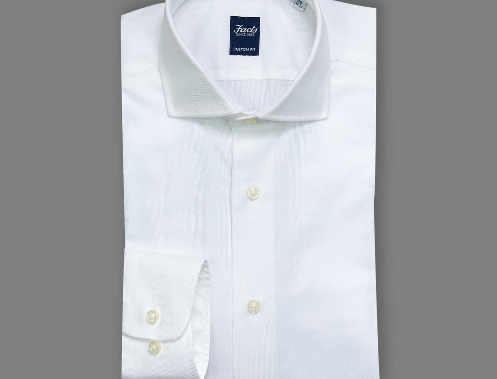 Camicia in piquet di puro cotone bianca