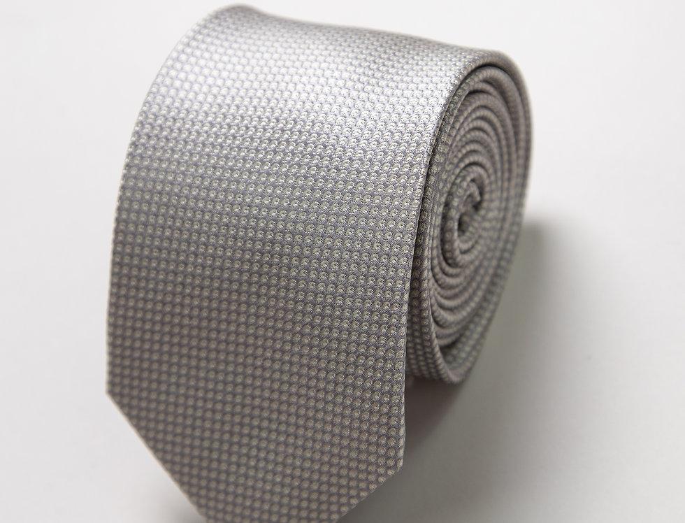 Cravatta pura seta grigio perla