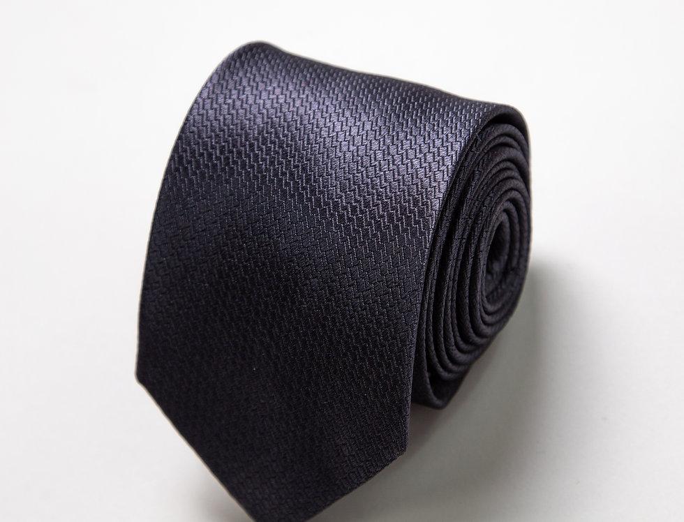 Cravatta pura seta blu notte