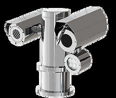Weatherproof Dual PTZ CCTV Camera Station