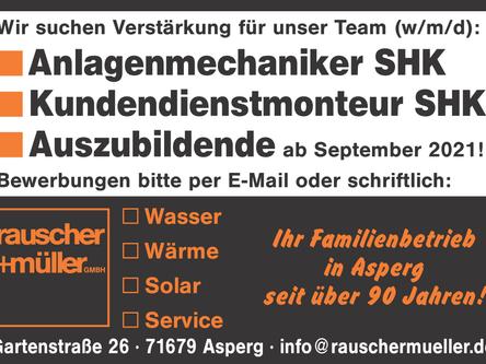 Wir suchen Verstärkung! Anlagenmechaniker, Kundendienstmonteur und Azubi.