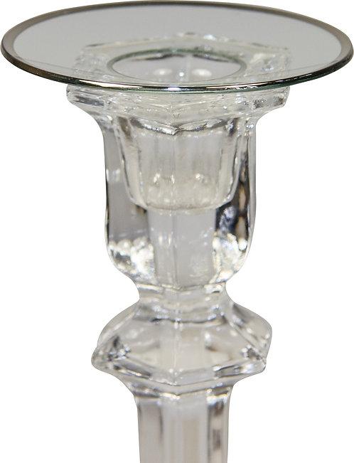 Kerzenteller mit Silberrand