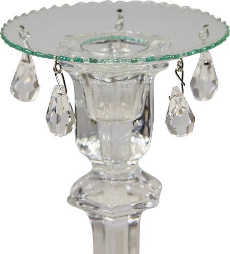 Kerzenteller mit 5 Kristallen