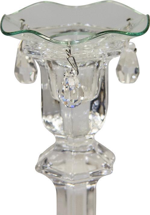 Kerzenteller mit drei Kristallen