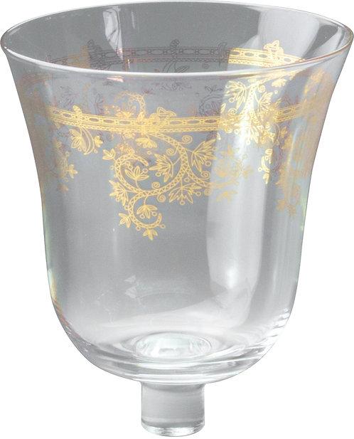 Glasaufsatz mit Goldrand