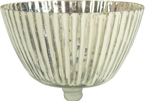 Glasaufsatz silber- weiß