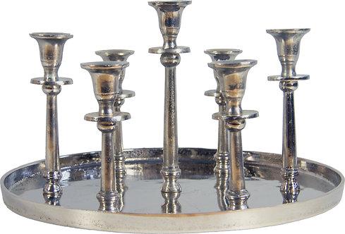 Kerzenständer 7er antik-silber