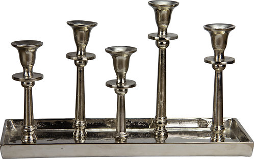 Kerzenständer 5er antik-silber