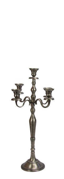 Kerzenständer 5-armig alt-silber