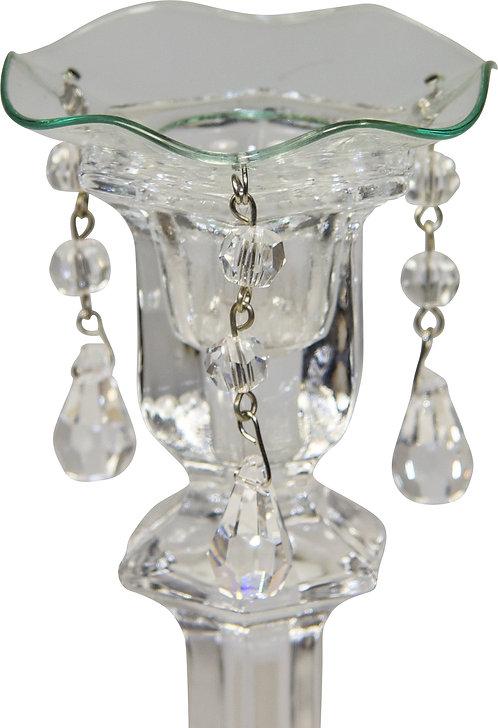 Kerzenteller mit Perlen und Kristallen