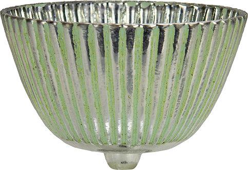 Glasaufsatz silber-grün