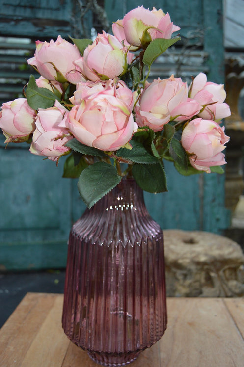 rosa Glas Vase
