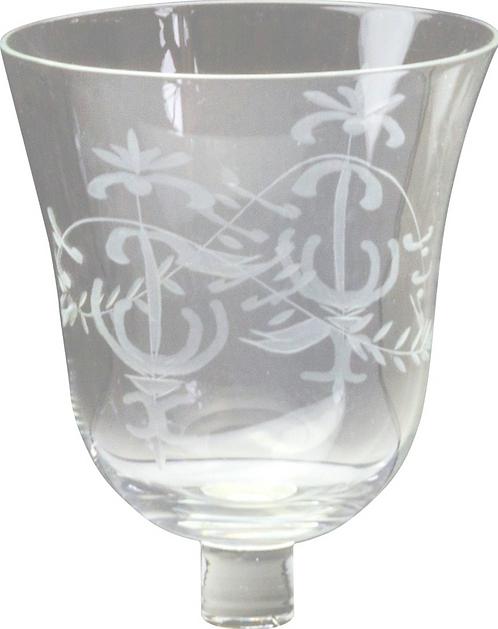 Glasaufsatz mit Schliff