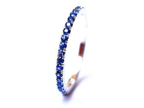 Classic Blue Sapphire Eternity Ring 1.6mm 1.9mm