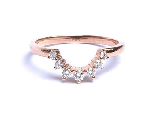 Diamond Nesting Ring for Round and Pear Shapes