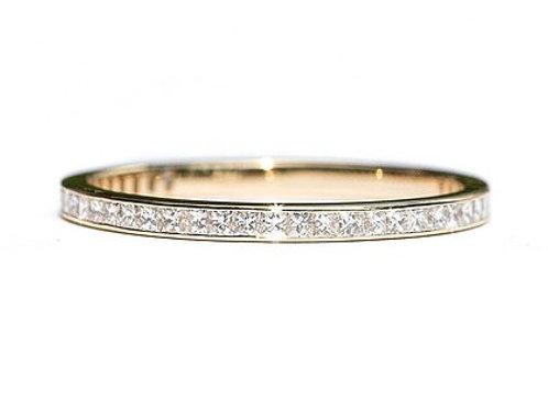 Channel Set Diamond Princess Eternity Ring