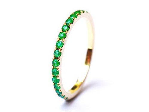 Classic Emerald Eternity Ring 1.6mm