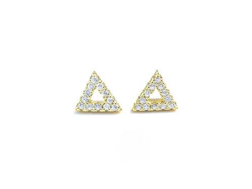 Diamond Open Triangle Stud Earrings