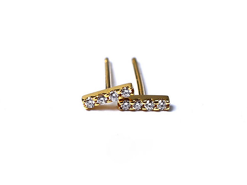 8 Diamond Bar Earrings
