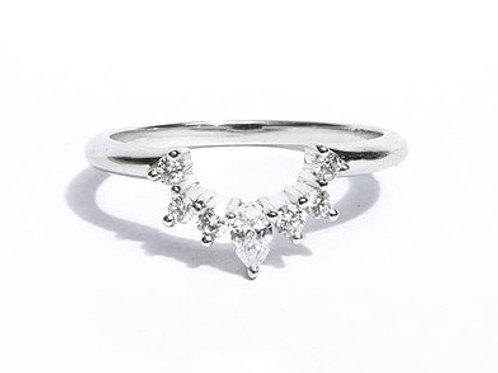 Diamond Nesting Ring For Cushion Shapes