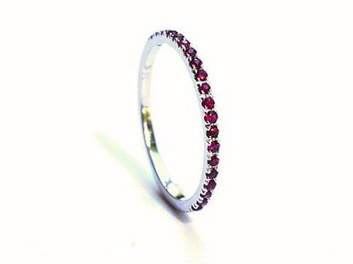 Classic Ruby Eternity Ring 1.35mm