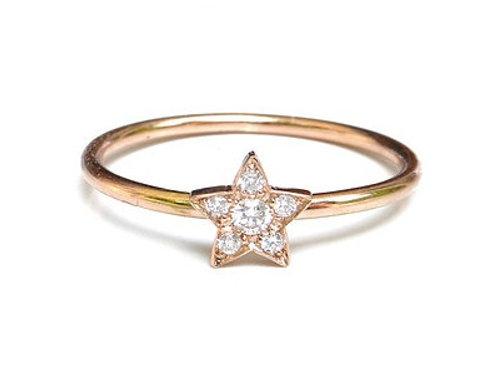 6 Diamond Star Ring