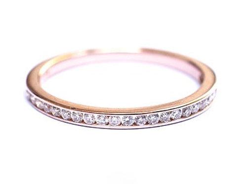 Channel Set Round Brilliant Cut Diamond Eternity Ring