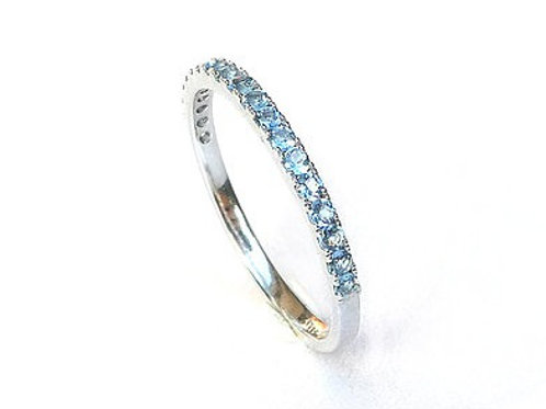 Classic Aquamarine Eternity Ring 1.65mm