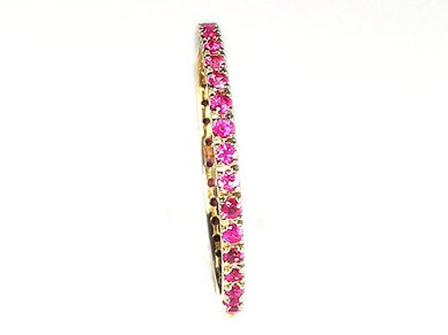 Classic Pink Sapphire Eternity Ring 1.35mm